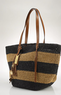 Lauren by Ralph Lauren Striped Straw Tote