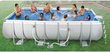 Intex 18' Rectangular Ultra Frame Pool Package