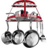 Range Kleen Enamel and Wrought Iron Pot Rack