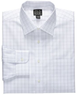 Men's Traveler Tailored Fit Plaid Dress Shirt