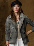 Women's Denim Pea Coat
