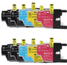 10-Pack Brother LC75 Compatible Inkjet Cartridge Combo