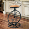 Christopher Knight Bicycle Wheel Adjustable Barstool