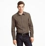 New York Men's Long-Sleeve Mini-Plaid Shirt
