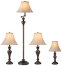 Portfolio 4-Piece Bronze Color Lamp Set