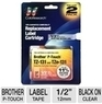 Compatible Label Cartridge For Brother (2-Pack)