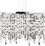 Hampton Bay Niagara 4-Light Black & Chrome Chandelier