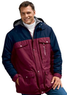 Big & Tall Men's Color Block Hooded Parka Jacket