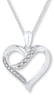 Heart Necklace w/ Diamond Accents