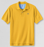 Short Sleeve Lighthouse Banded Sleeve Mesh Polo Shirt