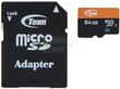 Team 64 GB Class 10 UHS-1 MicroSDXC Flash Card