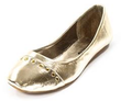 Women's Studded Metallic Ballet Flats