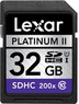 Lexar 32GB Platinum II Series Secure Digital Memory Card