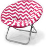 Mainstays Plush Chevron Saucer Chair
