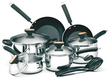 Paula Deen Signature Stainless Steel 12-Piece Cookware Set