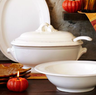 Baroque White Tureen with Ladle
