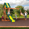 Backyard Discovery Weston Cedar Wooden Swing Set