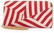 Striped Canvas Zip Wallet