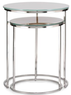 Knox Glass Top Nesting Side Tables