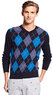 Men's Argyle V-Neck Sweater