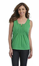 Basic Editions Women's Split Neck Tank Top