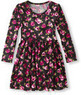 Girls' Velour Skater Dress