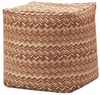 Madison Park Emma Square Pouff Ottoman