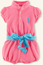 Ralph Lauren Layette Baby Girl Neon Polo Bubble Shortall