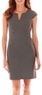 Worthington Cap-Sleeve Slit-Front Sheath Dress