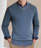 Men's Joseph Cotton Cashmere V-Neck Sweater