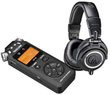 Audio-Technica Pro Monitor Headphones w/ Tascam Recorder