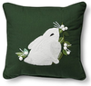 Threshold Applique Winter Rabbit Pillow