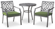 Threshold Harper 3-Piece Metal Patio Bistro Set