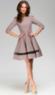 Khaki Round Neck Pleated Dress