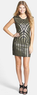 Leola Couture Juniors' Beaded Body-Con Dress